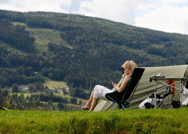 Lyngstrand Camping ved Randsfjorden